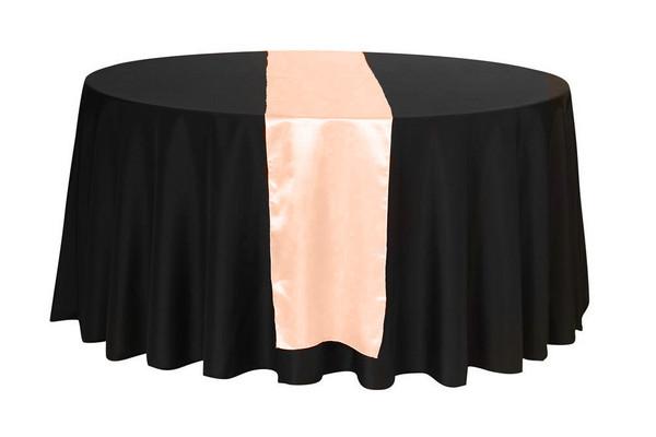 14 x 108 inch Satin Table Runner Peach