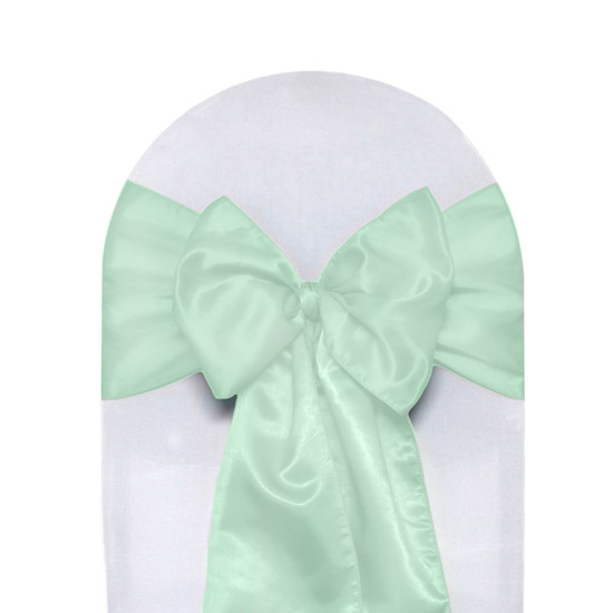 Satin Sashes Mint (Pack of 10)