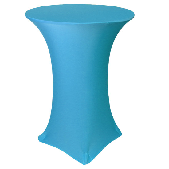 30 inch Highboy Cocktail Round Stretch Spandex Table Cover Malibu Blue