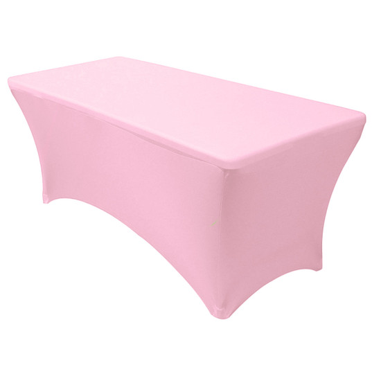 Stretch Spandex 6 Ft Rectangular Table Cover Pink
