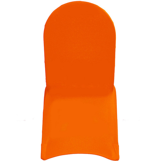 Stretch Spandex Banquet Chair Cover Orange For Weddings