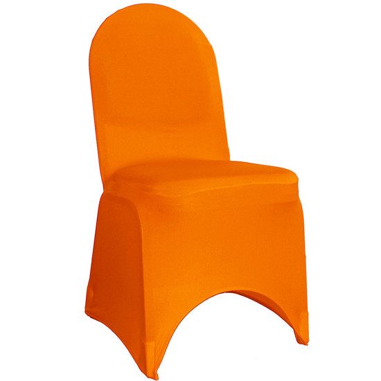 Stretch Spandex Banquet Chair Cover Orange For Events