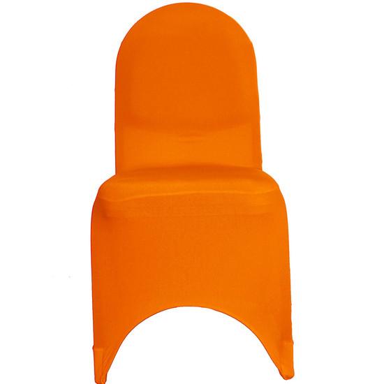 Wholesale Stretch Spandex Banquet Chair Cover Orange