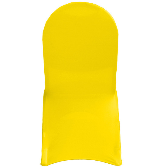 Wholesale Stretch Spandex Banquet Chair Cover Yellow