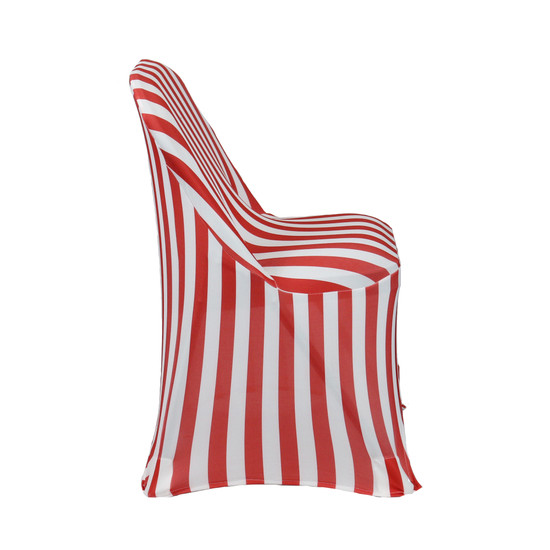 Stretch Spandex Folding Chair Covers Red/White For Weddings