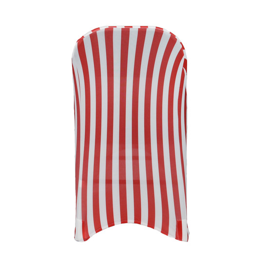 Spandex Folding Chair Covers Red/White For events