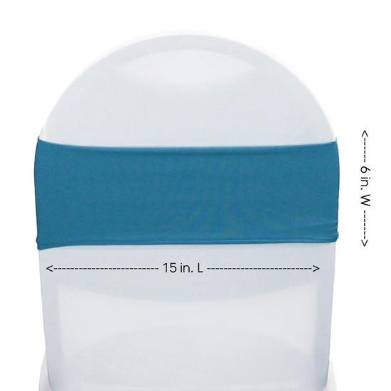 Spandex Bands Malibu Blue measurements