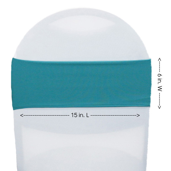 Spandex Chair Sashes Teal measurements