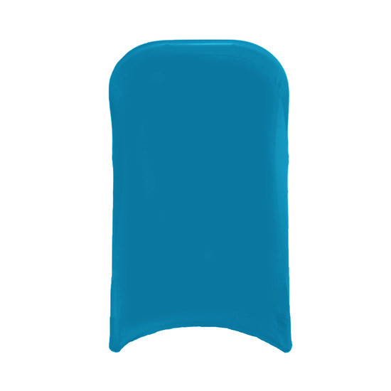 Stretch Spandex Folding Chair Cover Malibu Blue For Hotels