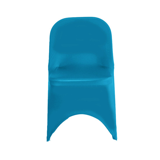 Wholesale Stretch Spandex Folding Chair Cover Malibu Blue