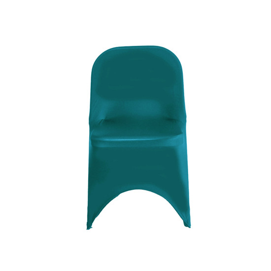Wholesale Stretch Spandex Folding Chair Cover Teal