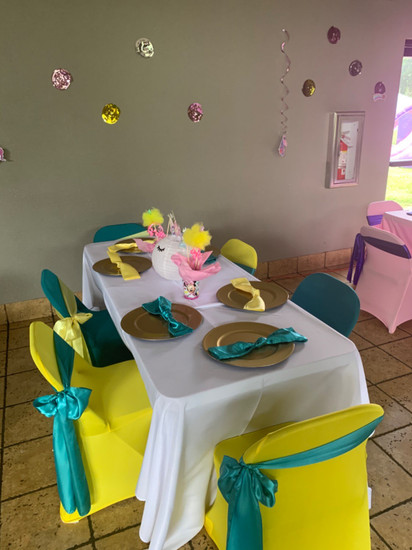 spandex yellow chair covers