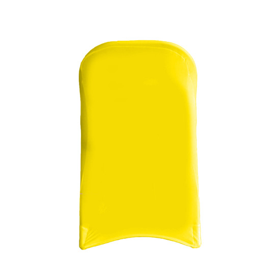 Wholesale Stretch Spandex Folding Chair Cover Yellow