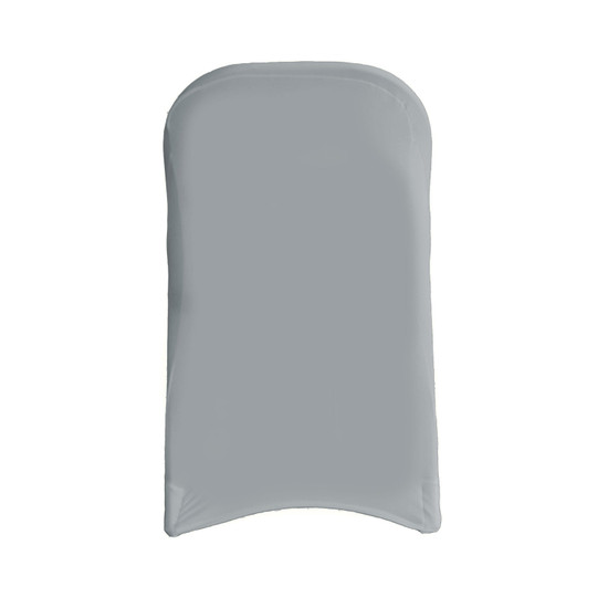 Stretch Spandex Folding Chair Cover Gray For Wedding