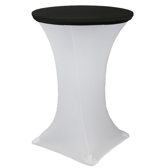 "30"" Stretch Spandex Table Topper/Cap Black"