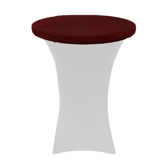 "30"" Stretch Spandex Table Topper/Cap Burgundy"