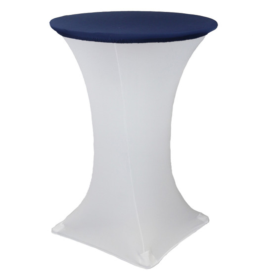 "30"" Stretch Spandex Table Topper/Cap Navy Blue"