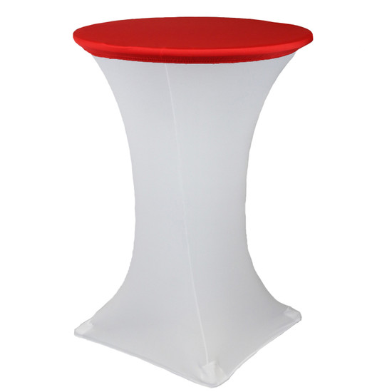 """30"""" Stretch Spandex Table Topper/Cap Red"""