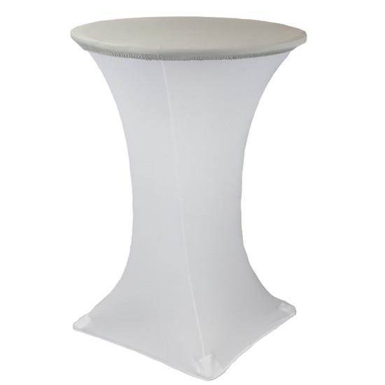"30"" Stretch Spandex Table Topper/Cap Silver"