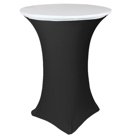 "30"" Stretch Spandex Table Topper/Cap White"