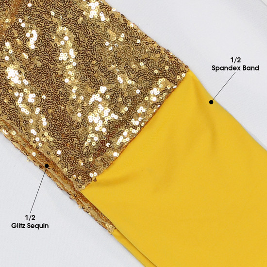 Glitz Sequin Spandex Band Gold
