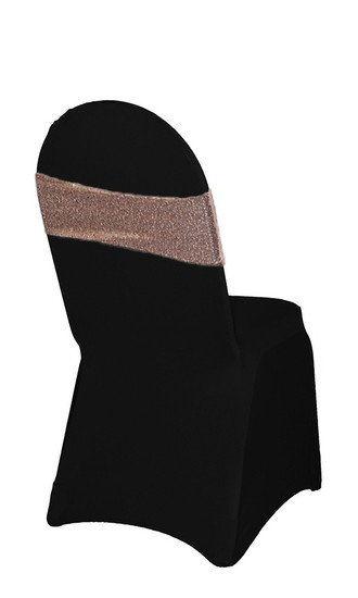 10 Pack Stretch Spandex Glitz Sequin Bands Blush Tradeshow
