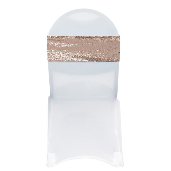 10 Pack Stretch Spandex Glitz Sequin Bands Blush