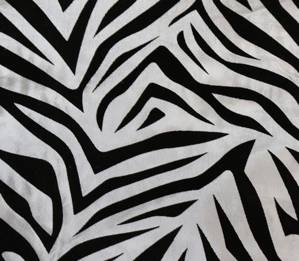 12 x 108 inch Damask Table Runner Zebra