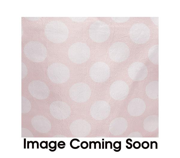 90 inch Square Satin Table Overlay Blush/White Polka Dots