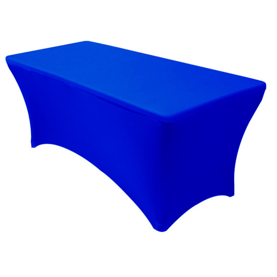 Stretch Spandex 5 ft Rectangular Table Cover Royal Blue