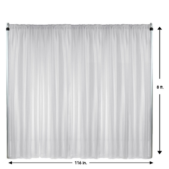 Drape/Backdrop 8 ft x 116 Inches White
