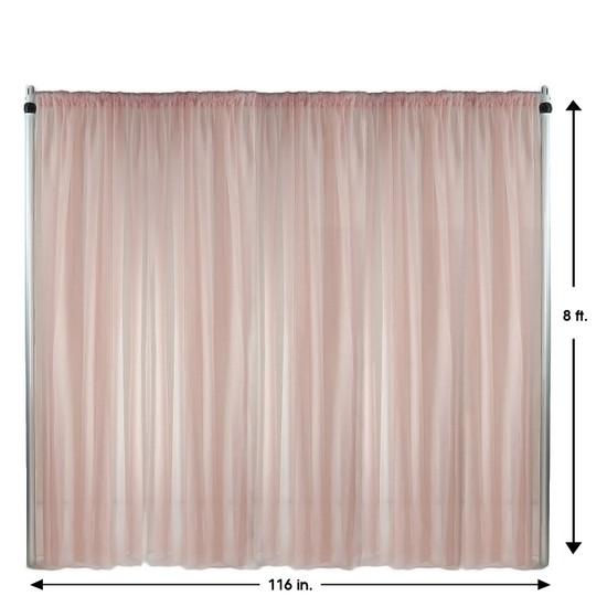 Drape/Backdrop 8 ft x 116 Inches Blush