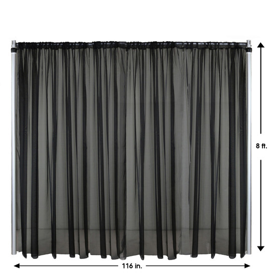 Drape/Backdrop 8 ft x 116 Inches Black