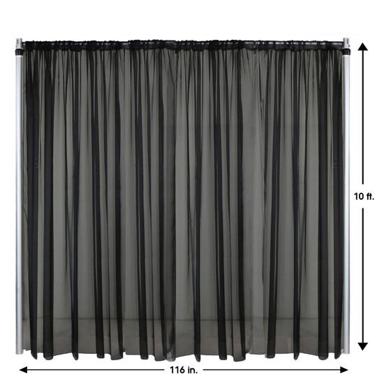 Drape/Backdrop 10 ft x 116 Inches Black