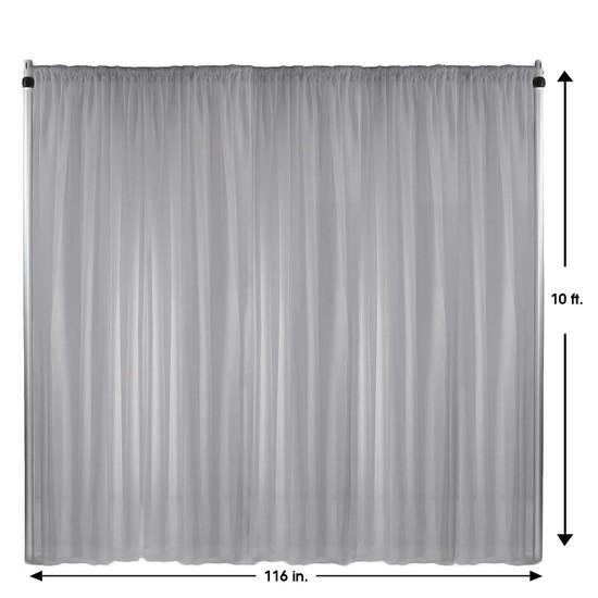 Drape/Backdrop 10 ft x 116 Inches Silver