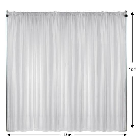 Drape/Backdrop 12 ft x 116 Inches White