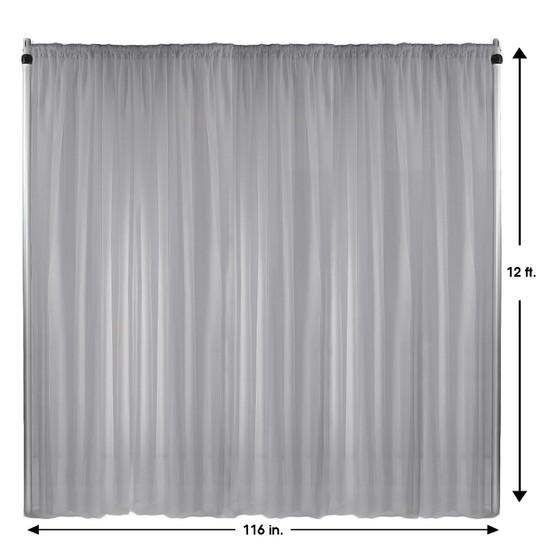 Drape/Backdrop 12 ft x 116 Inches Silver