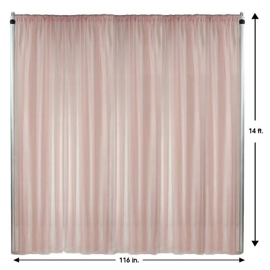 Drape/Backdrop 14 ft x 116 Inches Blush