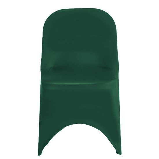 Stretch Spandex Folding Chair Covers Hunter Green For Weddings