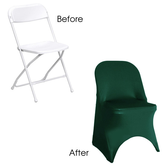 Stretch Spandex Folding Chair Cover Hunter Green