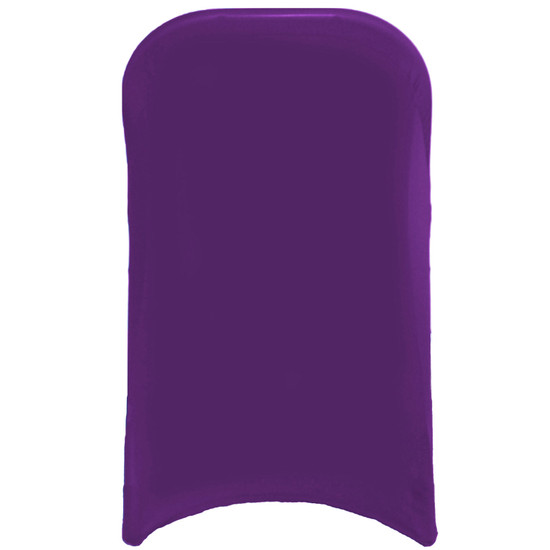 Wholesale Stretch Spandex Folding Chair Covers Purple