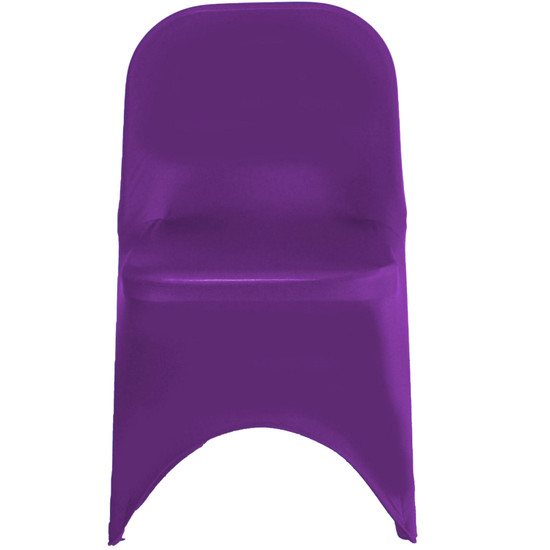 Stretch Spandex Folding Chair Covers Purple For Weddings