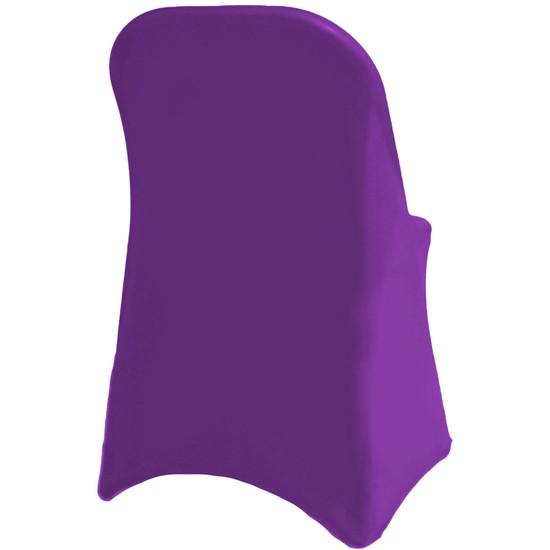 Spandex Folding Chair Covers Purple