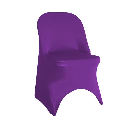 Purple Spandex Folding Chair Covers