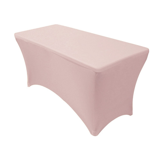 Stretch Spandex 4 ft Rectangular Table Cover Blush