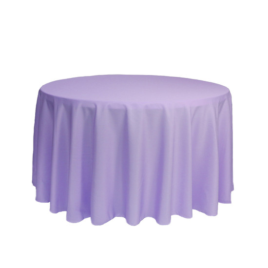 108 Inch Round Polyester Tablecloth Lavender