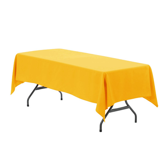 60 x 102 Inch Rectangular Polyester Tablecloth Gold