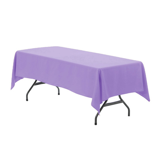 60 x 102 Inch Rectangular Polyester Tablecloth Lavender
