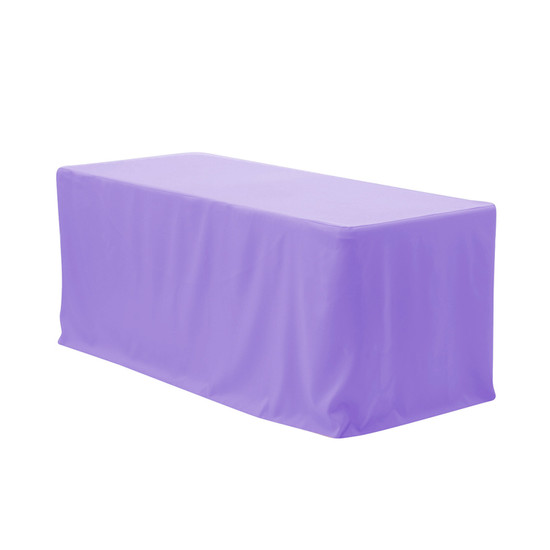 6 ft Fitted Polyester Tablecloth Rectangular Lavender