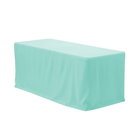 6 ft Fitted Polyester Tablecloth Rectangular Tiffany